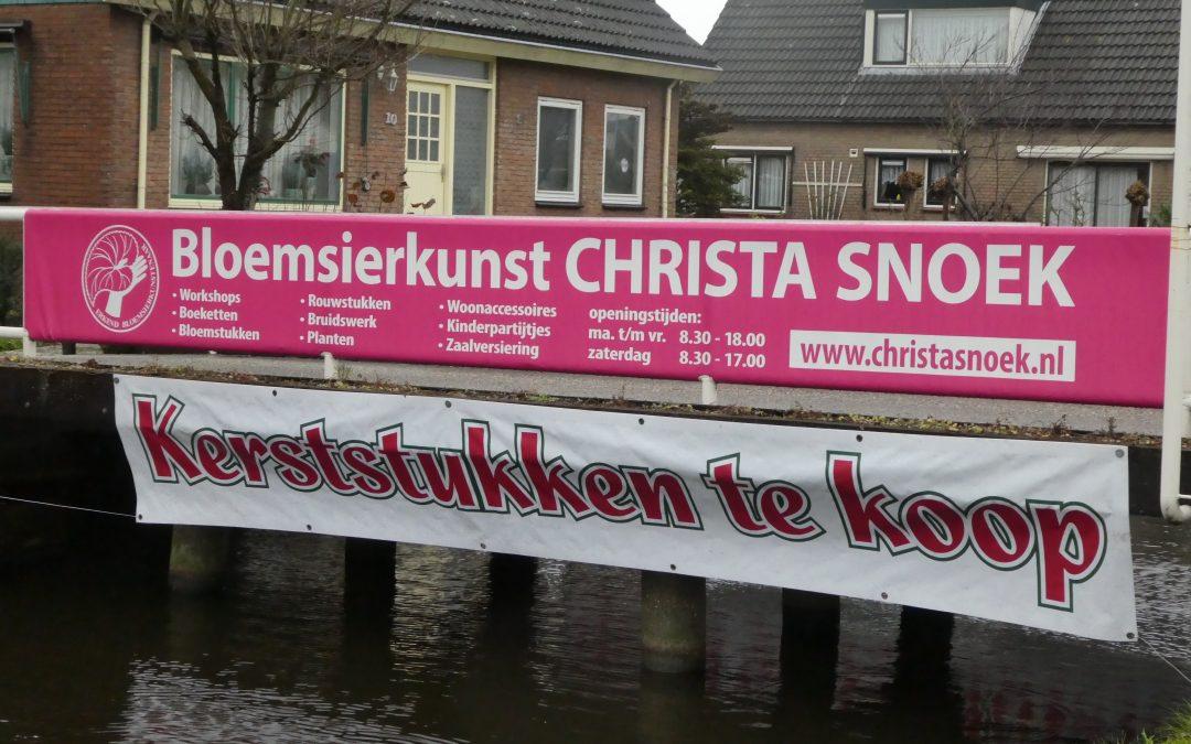 7 december 2018: Kerststukje maken bij Bloemsierkunst Christa Snoek