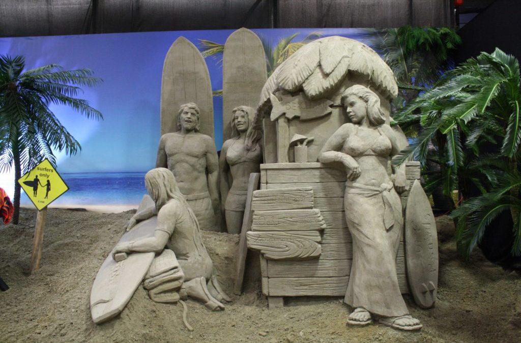 2 augustus 2019:  Bezoek aan de zandsculpturen in Garderen